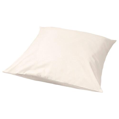 SÖMNTUTA pillowcase light beige 400 /inch² 65 cm 65 cm
