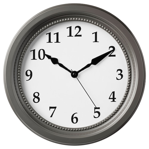 SÖNDRUM wall clock grey 35 cm 6 cm
