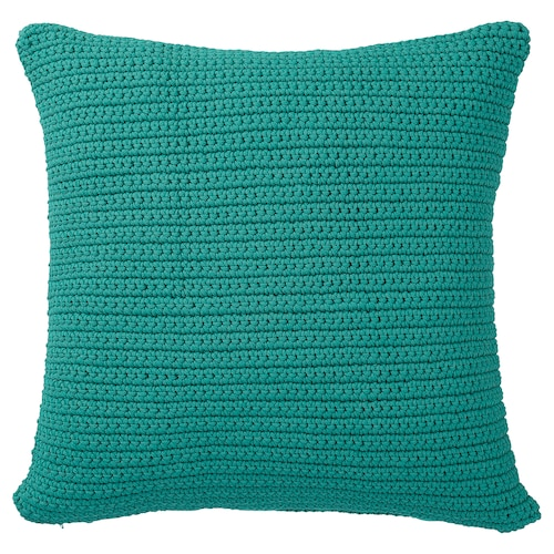 SÖTHOLMEN cushion cover, in/outdoor turquoise 50 cm 50 cm