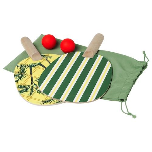 SOLBLEKT racket and ball set green