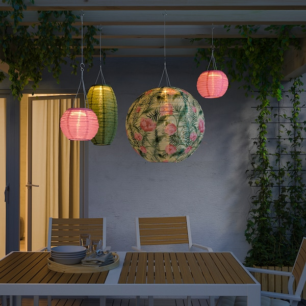 SOLVINDEN LED solar-powered pendant lamp outdoor/globe flower 2 lm 40 cm 45 cm 40 cm