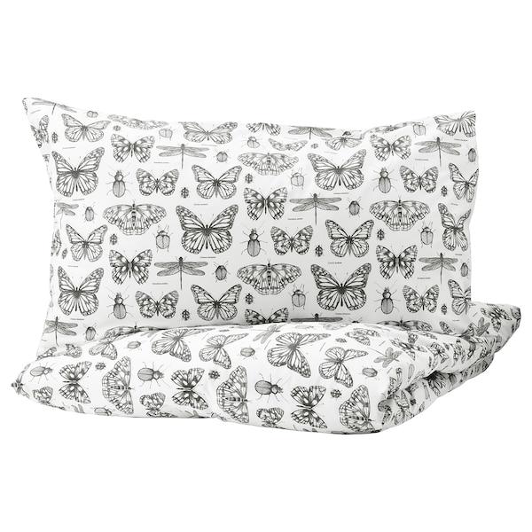 Pillowcases White Dark Grey