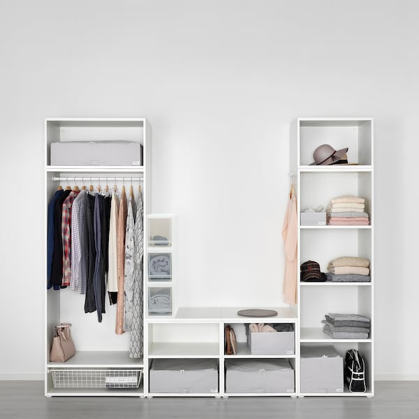 SOPPROT Pull-out storage unit, transparent white, 17x46x21 cm
