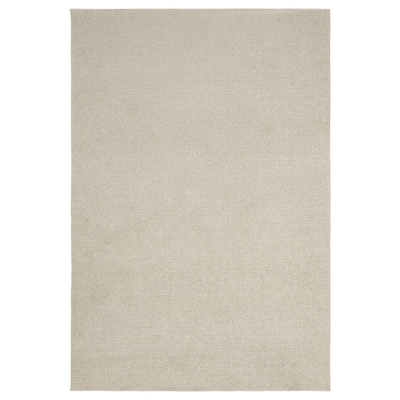 SPORUP Rug, low pile, light beige, 133x195 cm
