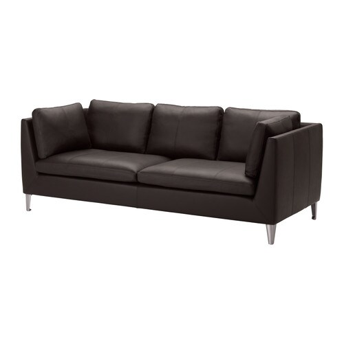 STOCKHOLM Three-seat sofa   Highly durable full-grain leather which is soft and has a natural look and feel.
