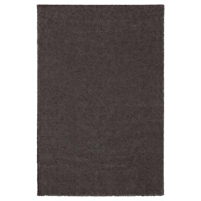 STOENSE Rug, low pile, dark grey, 200x300 cm