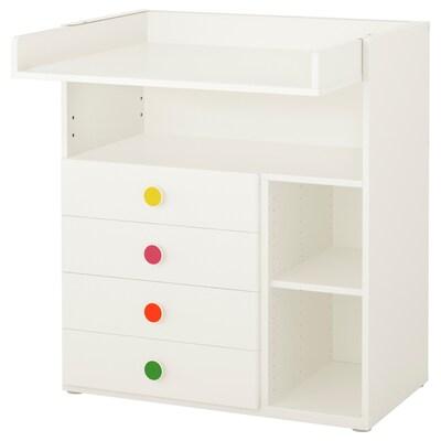 STUVA / FÖLJA Changing table with 4 drawers, white, 90x79x102 cm