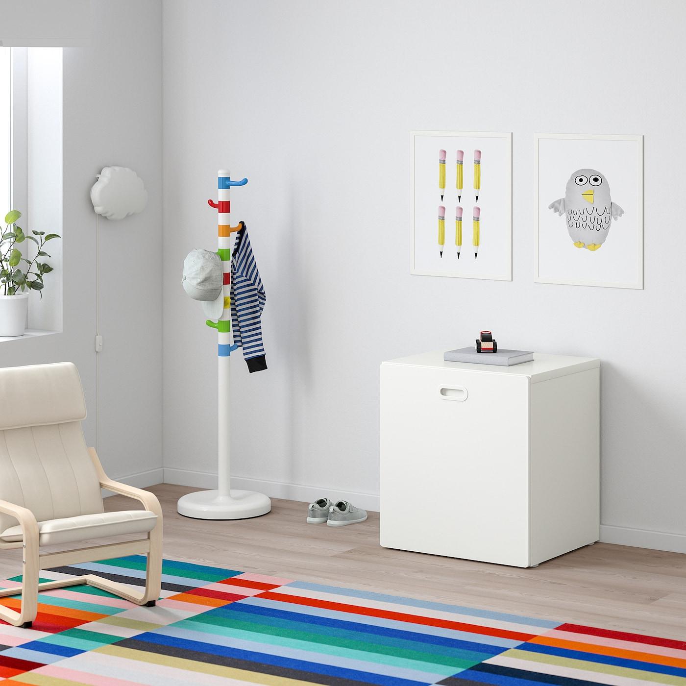 STUVA / FRITIDS Toy storage with wheels, white/white, 60x50x64 cm