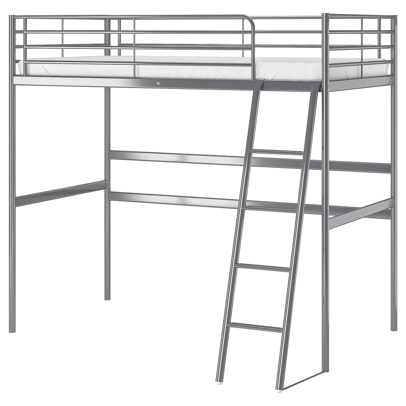 SvÄrta Loft Bed Frame Silver Colour