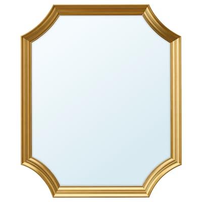 SVANSELE Mirror, gold-colour, 53x63 cm