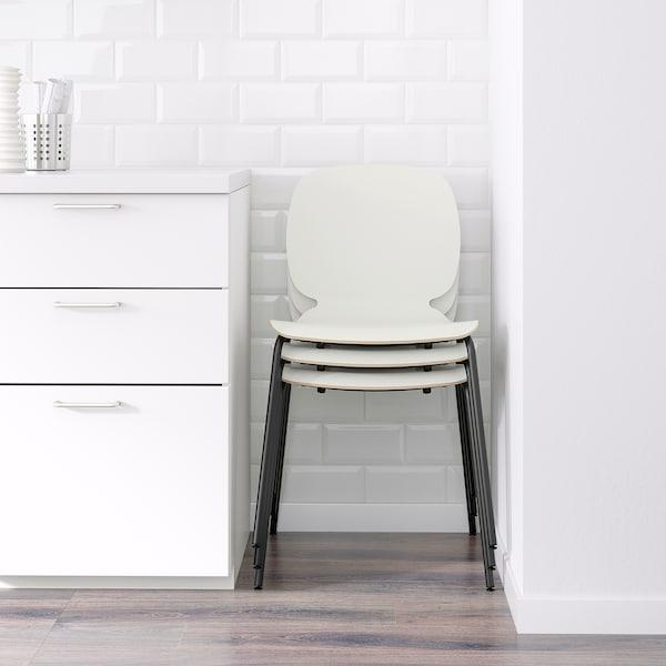 SVENBERTIL Chair, white/Broringe black