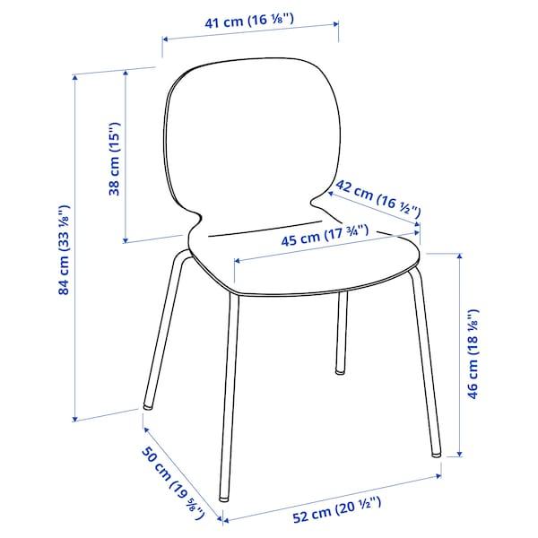 SVENBERTIL Chair, white/Broringe chrome-plated