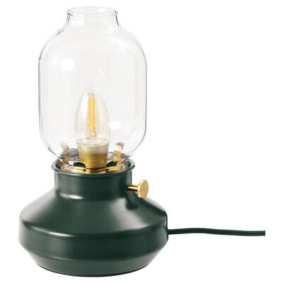 TÄRNABY Table lamp, dark green