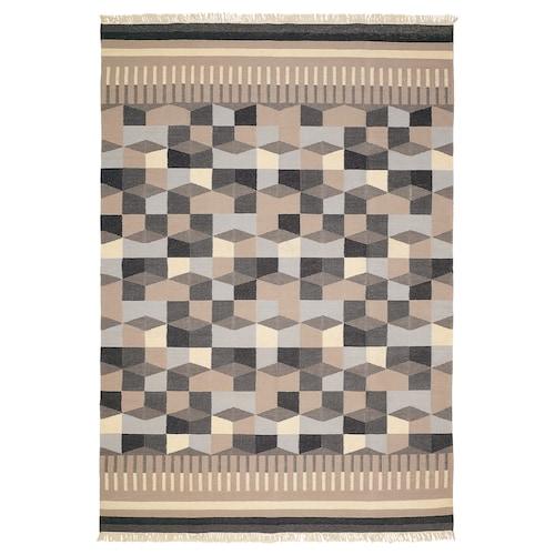 TÅRBÄK rug, flatwoven handmade/grey/beige 240 cm 170 cm 4 mm 4.08 m² 1400 g/m²