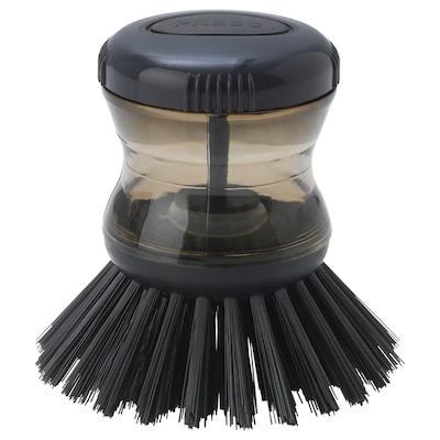 TÅRTSMET Dish-washing brush with dispenser, grey