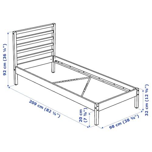 TARVA Bed frame, pine, 90x200 cm