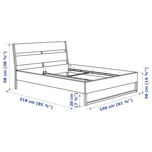 TRYSIL Bed frame, white/Luröy, 150x200 cm