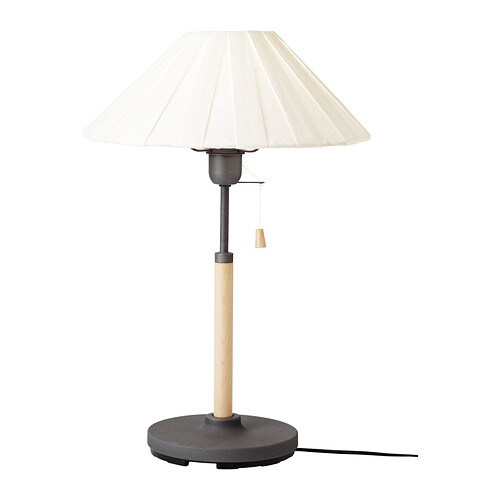 TUVE Table lamp   Shade of textile; gives a diffused and decorative light.