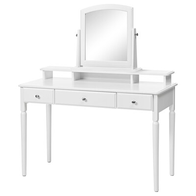 TYSSEDAL Dressing table with mirror, white, 120x51 cm