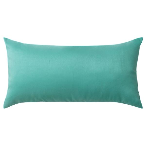 ULLKAKTUS Cushion, turquoise, 30x58 cm