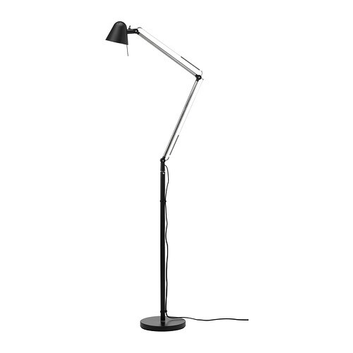 UPPBO Floor/reading lamp   You can easily direct the light where you want it because the lamp arm and head are adjustable.