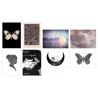 VÄXBO Art card, Black butterfly, 13x18 cm