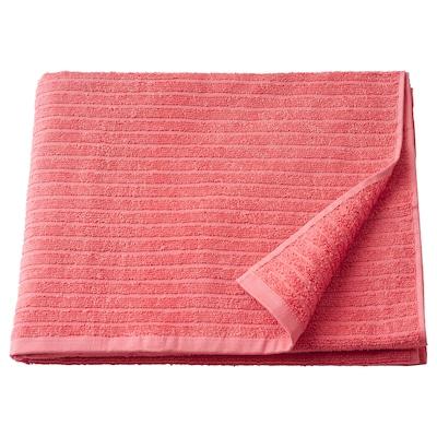VÅGSJÖN Bath towel, light red, 70x140 cm