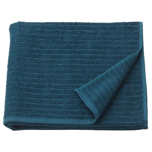 VÅGSJÖN bath towel dark blue 140 cm 70 cm 0.98 m² 400 g/m²