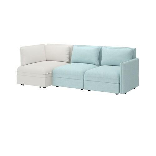 Vallentuna 3 Seat Modular Sofa With Sofa Bed And Storage Hillared