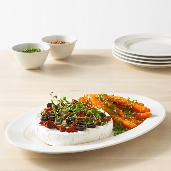 VARDAGEN serving plate off-white 35 cm 23 cm