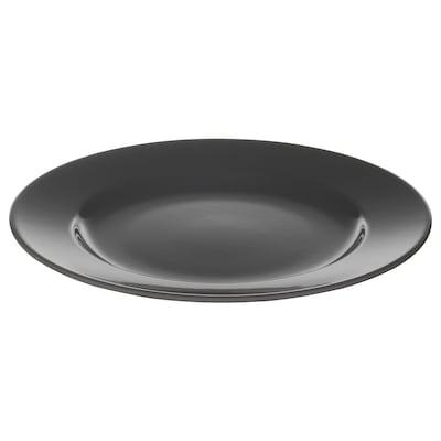 VARDAGEN Side plate, dark grey, 21 cm
