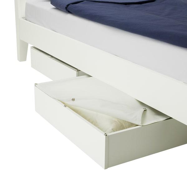 VARDÖ Bed storage box, white, 65x70 cm
