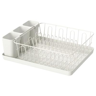 VARIERA Dish drainer, white, 42x30 cm