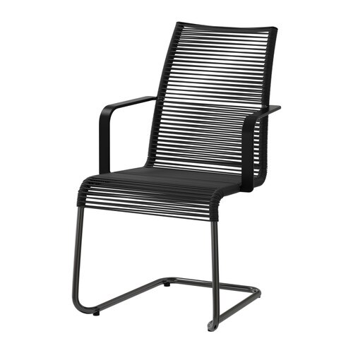 VÄSMAN Chair with armrests, outdoor   The materials in this outdoor furniture require no maintenance.