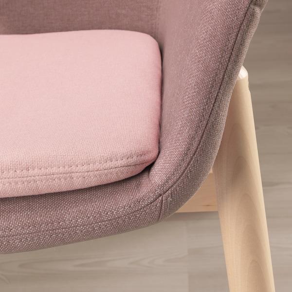 VEDBO high-back armchair Gunnared light brown-pink 80 cm 85 cm 108 cm 45 cm 48 cm 44 cm