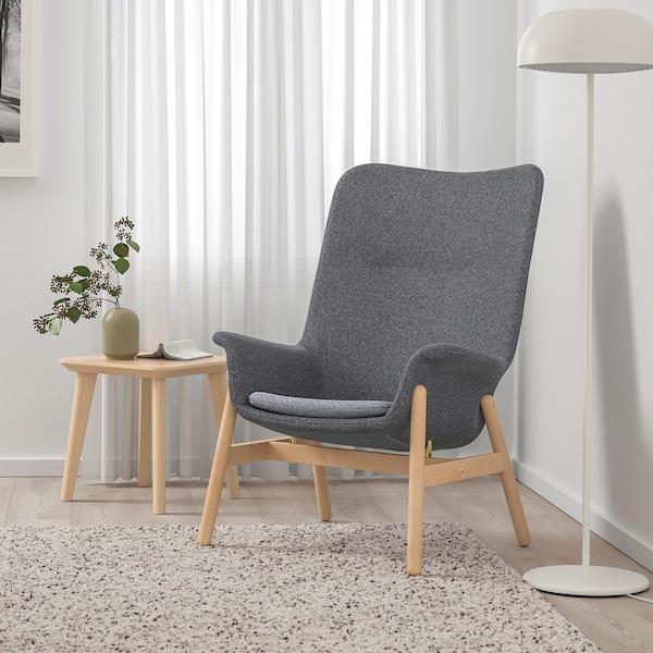 VEDBO high-back armchair Gunnared dark grey 80 cm 85 cm 108 cm 45 cm 48 cm 44 cm