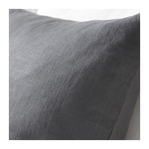 VIGDIS Cushion cover   The cushion cover is made of ramie, a hard-wearing natural material with a slightly irregular texture.