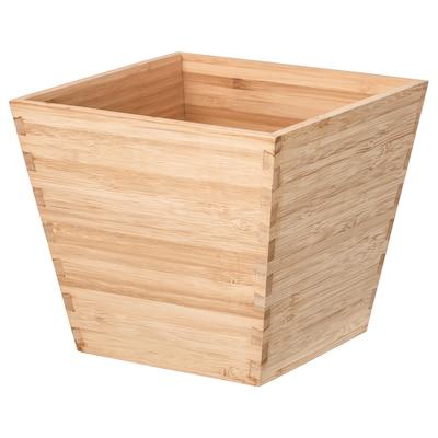 VILDAPEL Plant pot, bamboo, 12 cm