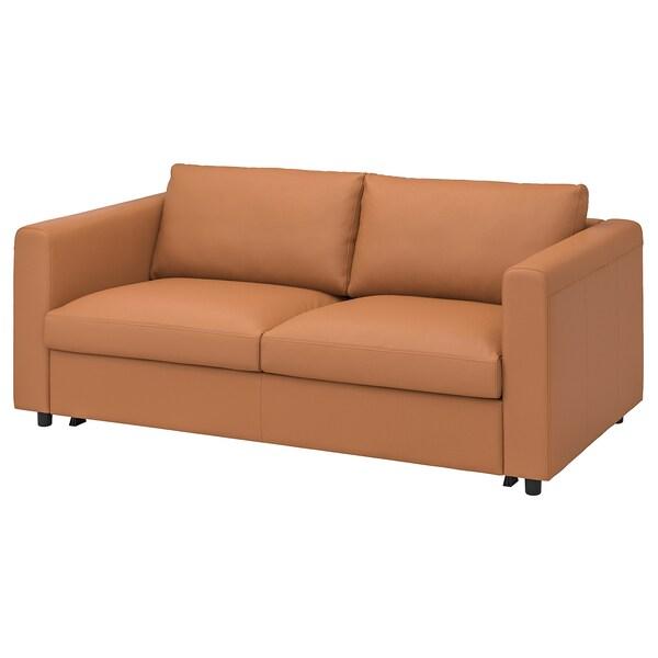 VIMLE 2-seat sofa-bed, Grann/Bomstad golden-brown