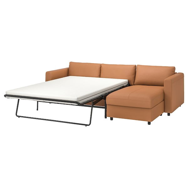 VIMLE 3-seat sofa-bed, with chaise longue/Grann/Bomstad golden-brown