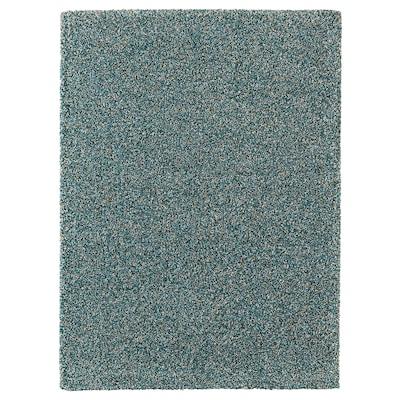 VINDUM Rug, high pile, blue-green, 200x270 cm
