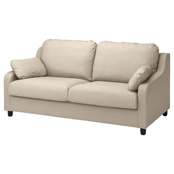 VINLIDEN Cover for 3-seat sofa, Hakebo beige
