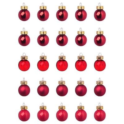 VINTER 2020 Decoration, bauble, glass red, 2 cm