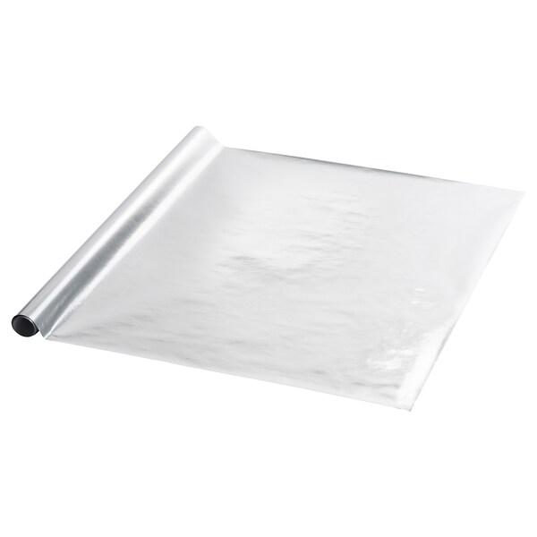 VINTER 2020 Gift wrap roll, silver-colour, 3x0.7 m