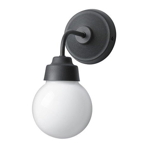 VITEMÖLLA Wall lamp   Gives a diffused light; good for spreading light into larger areas of a bathroom.