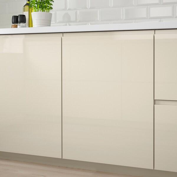 VOXTORP Door, high-gloss light beige, 20x80 cm