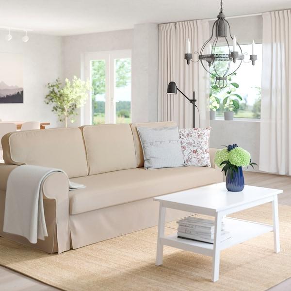 VRETSTORP 3-seat sofa-bed, Hallarp beige