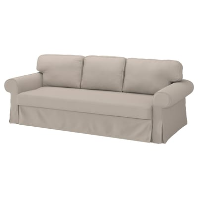 VRETSTORP 3-seat sofa-bed, Totebo light beige