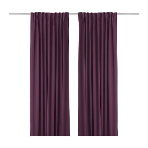 WERNA Block-out curtains, 1 pair IKEA
