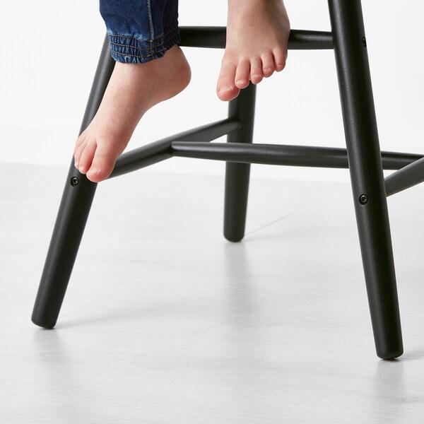 AGAM kerusi kanak-kanak hitam 41 cm 43 cm 79 cm 28 cm 29 cm 52 cm